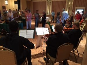 String Ensemble performs for a Kemp Center Art Opening